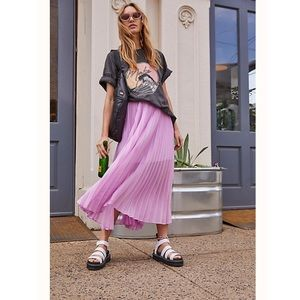 Free People Pleated Party Skirt Blush Lilac